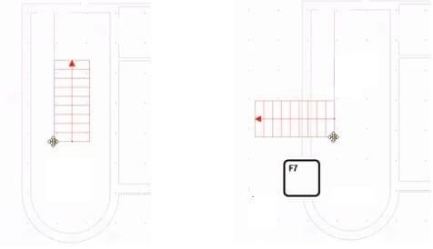 imagen que muestra como posicionar una escalrea en un modelo BIm con el software Edificius