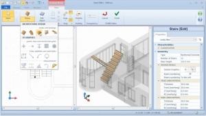 imagen que muestra como seleccionar un descancillo en el software Bim Edificius