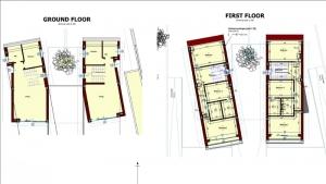imagen de la planta baja de casa 8i realizada con el software BIM Edificius