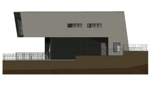 Imagen de la vista lateral de casa 8i realizada con el software BIM Edificius