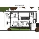 Imagen en color de la planta baja de casa HG realizado con el software BIM Edificius