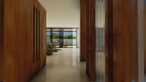 Render de la entrada de casa HG realizado con el software BIM Edificius