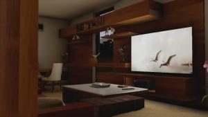 Render de la sala de estar de casa HG realizado con el software BIM Edificius