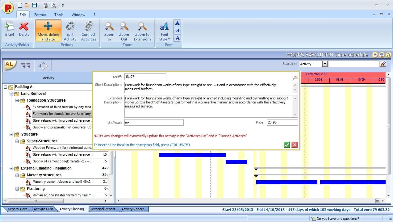 Imagen que muestra la interfac del programa PriMus-K i la insercion de una actividad