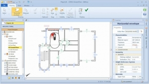 Ambientes y niveles en un software BIM: Imagen que muestra la interfaz de Edificius