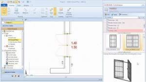 Imagen que muestra la interfaz del sofware Edificius y las modalidades para posicionar un cerramiento y definir el modelo interior y el modelo exterior