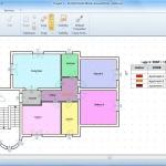 imagen que muestra la interfaz del software Edificius con una vista filtrada según las superficies de las unidades inmobiliarias