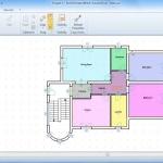 imagen que muestra la interfaz del software Edificius con una vista filtrada según ambientes
