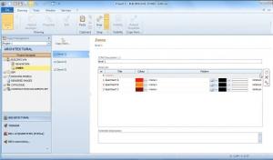 imagen que muestra la interfaz del software Edificius y la funcionalidad para la división del proyecto en zonas según unidades inmobiliarias