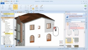 Aplicación del color o del material a un objeto BIM