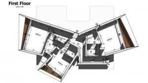 imagen en color de la planta primera de casa san roque