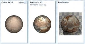 imagen che con interfaz del programa Edificius que muestra en detalle color y textura de un material