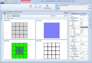 imagen che con interfaz del programa Edificius que muestra los distintos tipos de Mapeados de Texturas en un software BIM