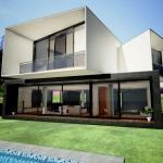 Render con efectos de casa san roque