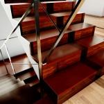 Render con detalle de escalera de casa san roque