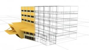 Imagen de un edificio 30 3D