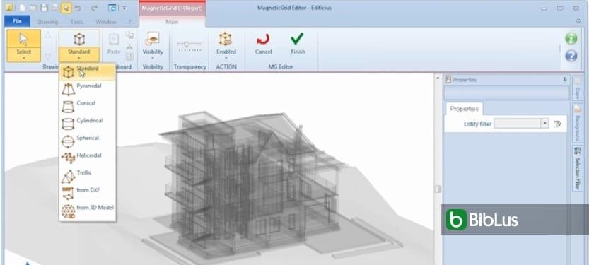 Diseño y modelado de objetos BIM con MagneticGrid