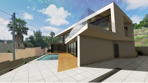 Render y fotomontaje de Casa JC