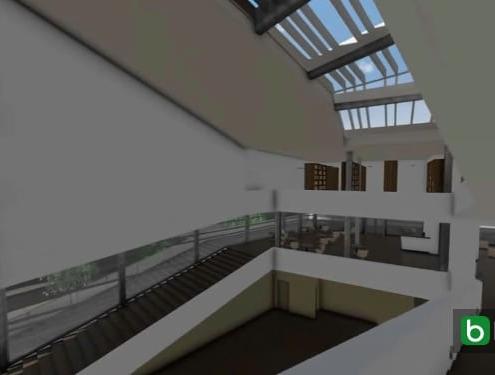 Diseñar una escalera y una barandilla con un software BIM Daegu Gosan Public Library