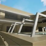 piscina y fachada