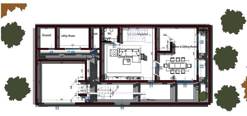 Realizar una vivienda unifamiliar con un software bim for Casa de planta baja
