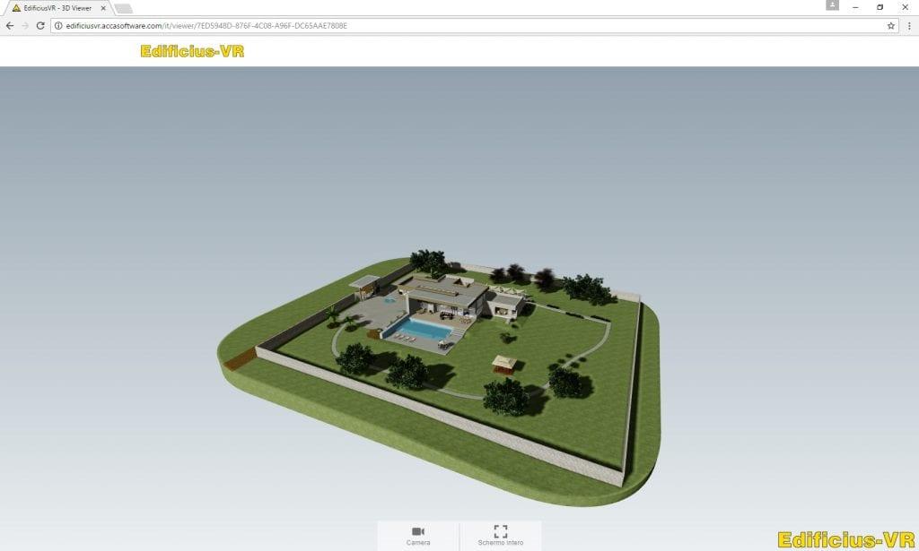 Vista de un modelo 3D realizado con Edificius