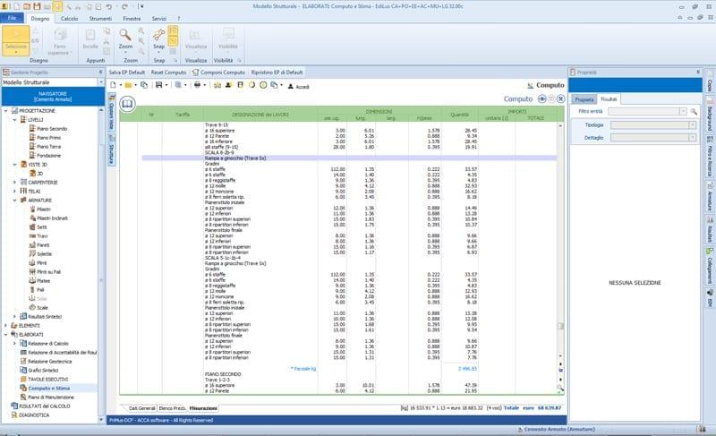 EdiLus estimación de costos de la estructura