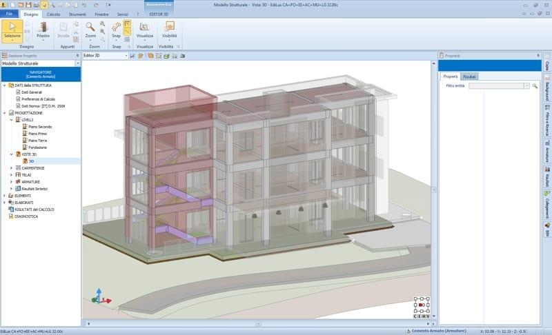 EdiLus: realización del modelo estructural con modelo arquitectónico integrado