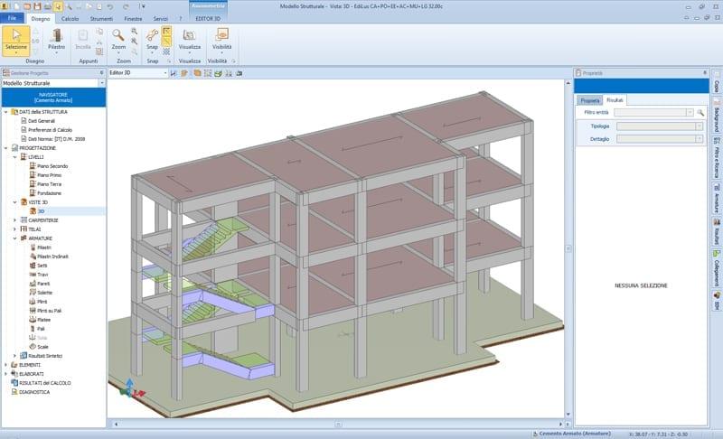 EdiLus: Modelo físico de la estructura