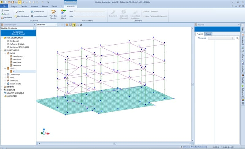 EdiLus beam y shall: Modelo estructural