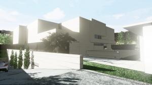 Accesso garage_effetto artistico_Park House_Edificius