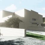 Entrada estacionamiento efecto artístico - Park House - Edificius -
