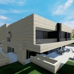 Terraza y piscina - Park House - Edificius