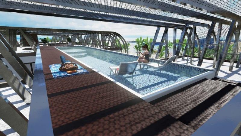 Detalle de la piscina Nahil Kan
