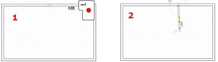Definición distancia punto de colocación objeto