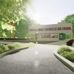 Acceso Villa Savoye - Le Corbusier