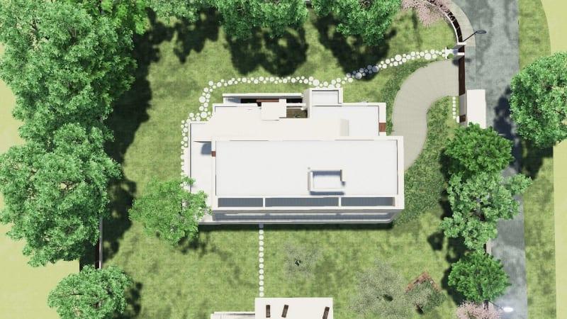 Vista desde arriba de la residencia Marble&Bamboo