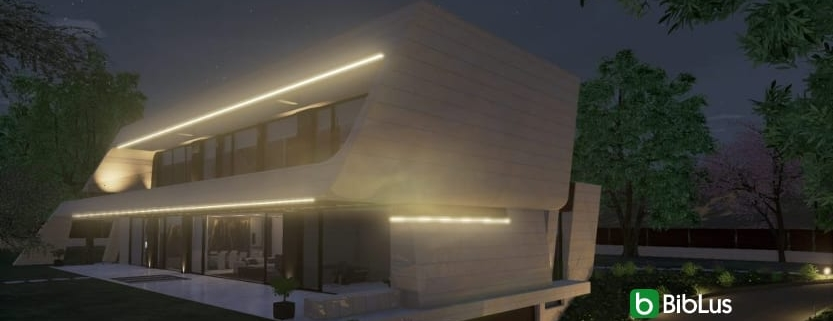 fachada inclinada con un software BIM para el diseño arquitectónico Edificius