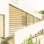 Paseo arquitectónico - efecto gráfico