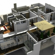 spaccato assonometrico con un software BIM Edificius