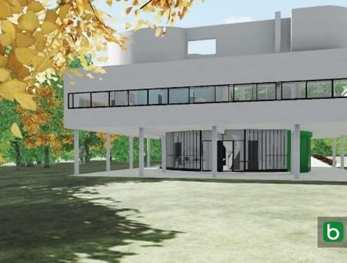 Villa Savoye diseñada con un software BIM Edificius