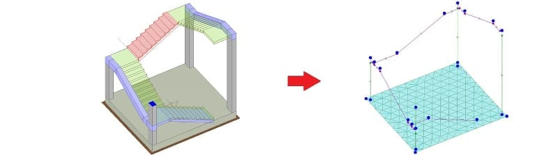 Modelado correcto escalera