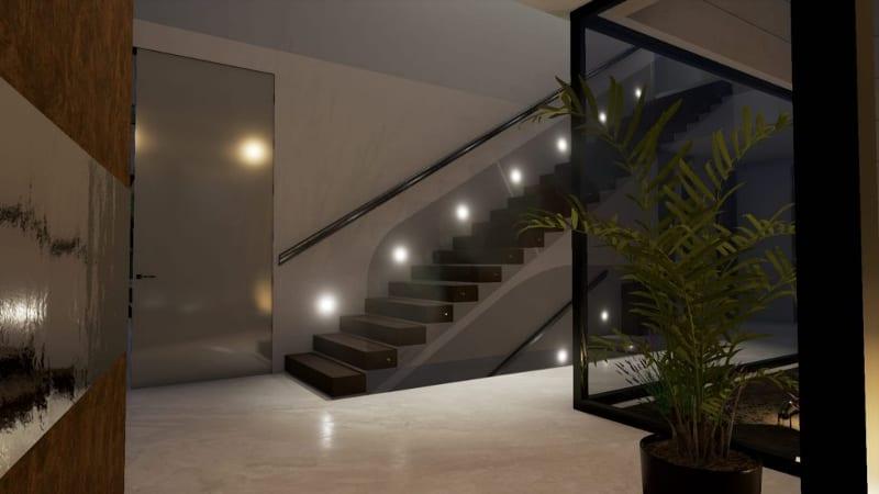Realizar una escalera en un modelo bim marble y bamboo biblus - Iluminacion de escaleras ...