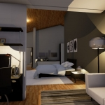 Zona dormitorio y estudio