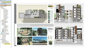 Plano executivo - Cuboid House -