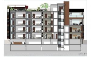 Sección-c-c - Cuboid House
