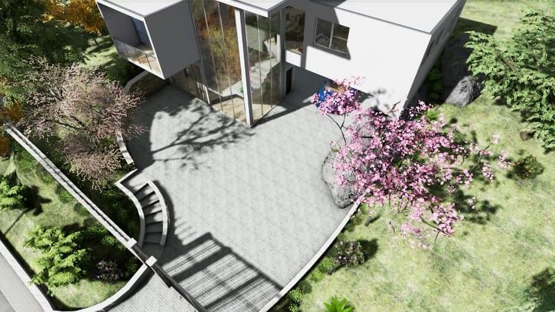 escaleras-externas-render-software-Arquitectura-BIM-Edificius