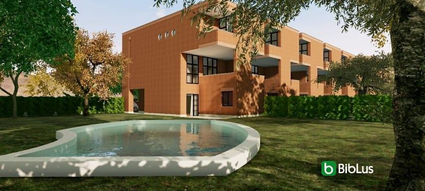 Case a schiera contemporanee di architetti famosi: il progetto di Botta con modello BIM e piante DWG da scaricare software BIM Edificius