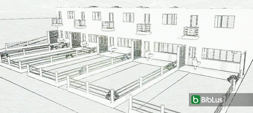 Case a schiera: progetti ed esempi con piante, planimetrie e disegni anche in dwg software BIM Edificius