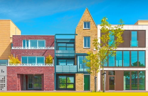 Tipos de casas adosadas con imágenes y dibujos DWG para descargar Software BIM para arquitectura Edificius